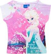 Disney Frozen Meisjes T-shirt - Wit/Roze - Maat 116