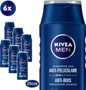 NIVEA MEN Power Anti-Roos - 6 x 250 ml Voordeelverpakking - Shampoo