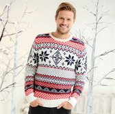 Traditioneel Noorse Kersttrui Adults Nordic Jumper XS