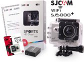 SJCAM™ SJ5000+ WiFi in Silver met extra accu en Kingston 32Gb Class 10 Micro-SD