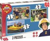 Fireman Sam - Kinderpuzzel - 3 Puzzels