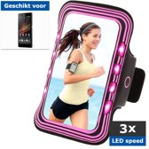 qMust Sony Xperia Z Sport Armband met led-lampjes (rose)