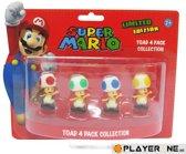 Nintendo Toad : 4 Mini Figuren