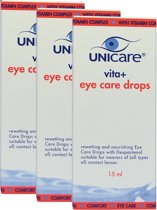 Voordeelverpakking: Unicare Vita+ eye care drops, 3 x 15 ml
