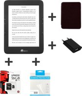 E653BKFUL16 Illumina Full Options bundel - E653BK e-reader + C014BK hoes + ACD0052-EU oplader + OCF001TT screen protector + 16Gb Kingston geheugenkaart