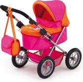 Bayer Poppenwagen Trendy - Roze/Oranje