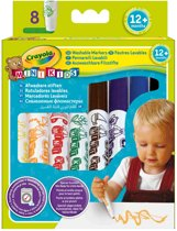 Crayola Mini Kids - 8 Viltstiften bolle punt - vanaf 1 jaar