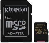 SDCA10/64GB 64GB microSDXC CL10 UHS-I 90R/45W