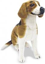 Pluche knuffel hond Beagle 56 cm