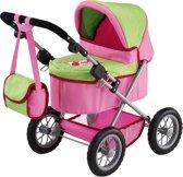 Bayer Poppenwagen Trendy - Roze/Groen