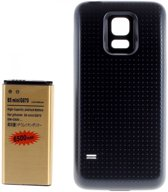 qMust Samsung Galaxy S5 mini Extended Battery Pack - vervangt accu - 6500mAh - Black
