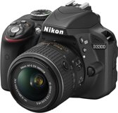 Nikon D3300 + 18-55 VR II - Spiegelreflexcamera - Zwart