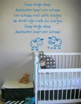 Stickythings Muurtekst Slaap kindje slaap Oceanblue Mat