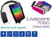Livecore 7020 Tablet Wit  met een Hi-Fi Headphone