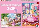 Fairytale Princesses, 2x26 pcs - Kinderpuzzel