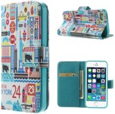 Apple iPhone 5 of 5S Wallet Stand Case New York
