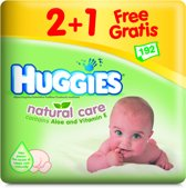 Huggies Natural Care - Billendoekjes 3-pack