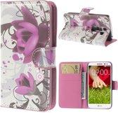 Mesh - LG G2 Mini - Wallet Case Hoesje Lotus