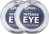 Etos Intense Eyeshadow 006 - Blauw - 2 stuks - Oogschaduw