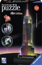 Ravensburger 3D Puzzel Empire State Building Night Edition - 216 Stukjes