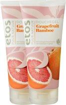 Etos Puur Natuur Douchegel Grapefuit & Bamboo - 2 x 200  ml - Bad & Douche