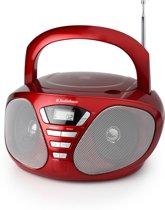 AudioSonic CD-1568 - Radio/CD-speler - Rood