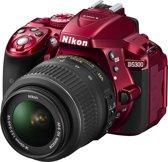 Nikon D5300 + 18-55 mm VR - Spiegelreflexcamera - Rood