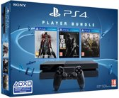 Sony PlayStation 4 Console 500GB + 1 Wireless Dualshock 4 Controller + Bloodborne + The Last of Us + The Order 1886 - PS4 bundel