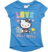 Hello Kitty Meisjes T-shirt - blauw - Maat 116