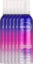 Andrélon Pink Collection Get The Volume - 200 ml - Haarmousse - 6 stuks - Voordeelverpakking