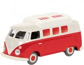 VW T1 Bus Camper, rood-wit
