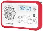 Sangean DPR-67 - Radio met DAB+ - Rood/Wit