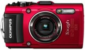 Olympus Stylus Tough TG-4 - Digitale camera - High Definition - compact - 16.0 Mpix - 4 x optische zoom - Wi-Fi - onder water maximaal 15 m - rood