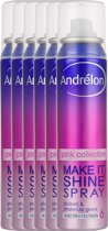 Andrélon make it shine Pink Collection - 100 ml - glans spray - 6 st - voordeelverpakking