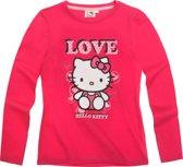 Hello Kitty Meisjesshirt - Donkerroze - Maat 92