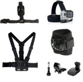 7-in-1 Accessories Kit Hoofdband, borstband, polsriem voor Gopro Hero 1 2 3 3+ 4