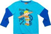 Bob de Bouwer Jongens T-shirt - Lichtblauw/Blauw - Maat 98