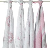 Aden + Anais - Muslin Katoenen Swaddle 4-pack (inbaker)doek - For the Birds