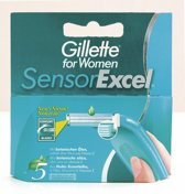 Gillette Sensor Excel For Woman - 5 stuks - Scheermesjes