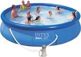 Intex Easy Set Opblaasbaar Zwembad - 457 cm - Inclusief 12V Filterpomp