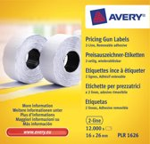 Prijstangetiketten Avery non-permanent 26x16mm wit 10 rol in doos
