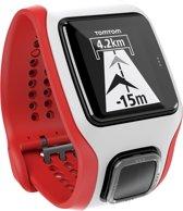 TomTom Runner Cardio - GPS Sporthorloge - wit/rood