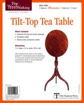 Fine Woodworking's Tilt-Top Tea Table Plan