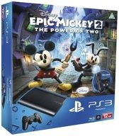 Sony PlayStation 3 Console 12GB Super Slim + 1 Wireless Dualshock 3 Controller + Epic Mickey 2 - Zwart PS3 Bundel