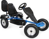 Go Kart Gokart Skelter Trapauto blauw 2 persoons 400770
