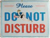 Metalen muurplaat Do Not Disturb 30 x 40 cm