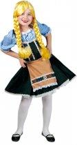 Oktoberfest Tirolerjurk Heidi voor kinderen 164