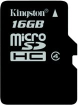 Kingston microSD kaart 16 GB + SD adapter