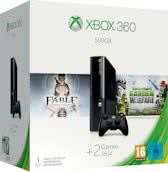 Microsoft Xbox 360 Super Slim Console 500GB + 1 Wireless Controller + Fable Anniversary + Plants Vs Zombies