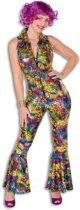 Gekleurde disco jumpsuit voor dames 40 (l)